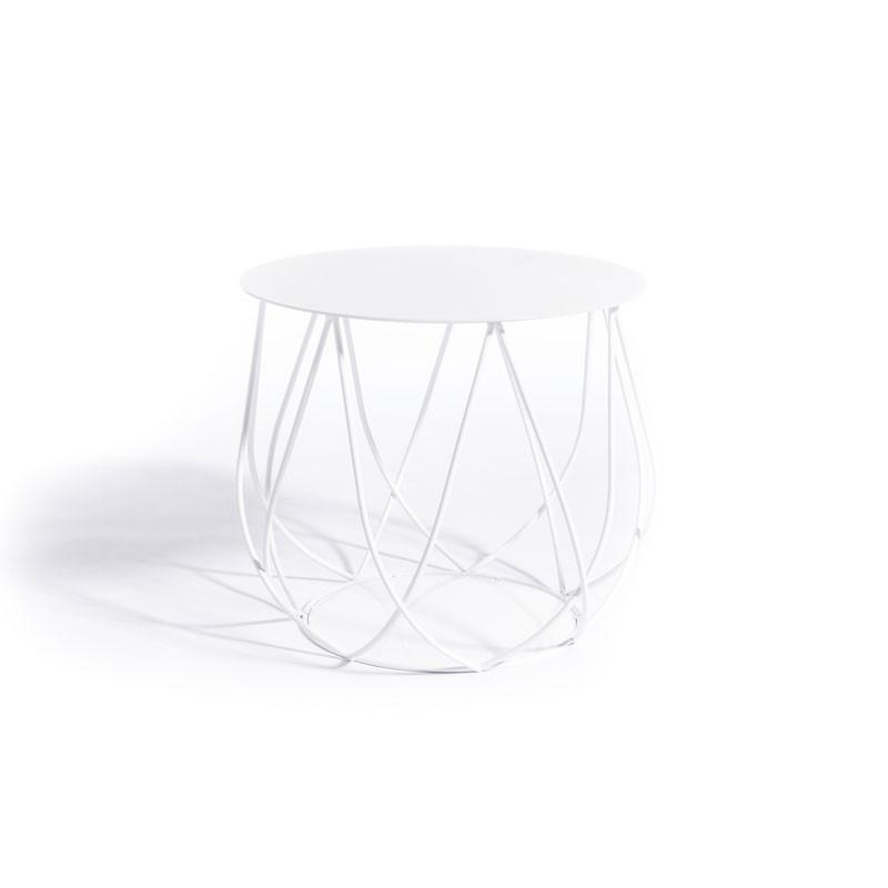 Skargaarden Resö Lounge Table Crossed Bars White
