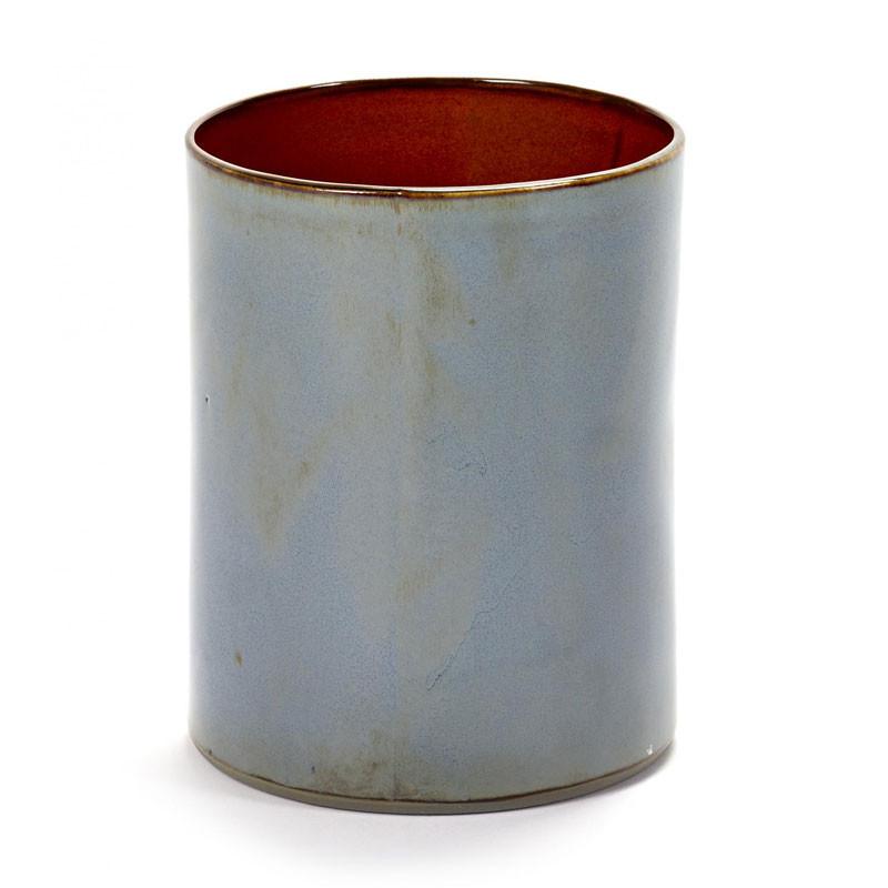 Serax Anita Cylinder Vase Smokey Blue