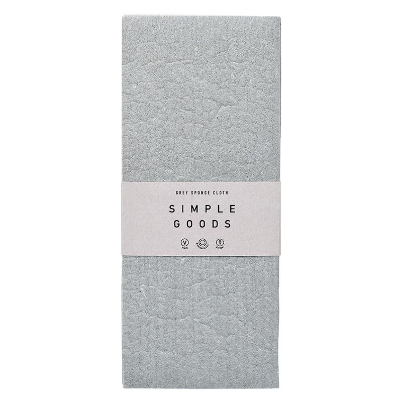 Simple Goods Sponge Cloth Grey 2-pack