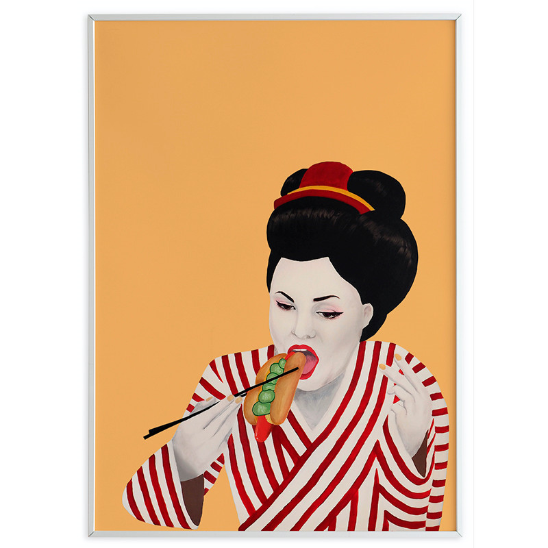 Taisho Sulten Geisha Orange/Gul