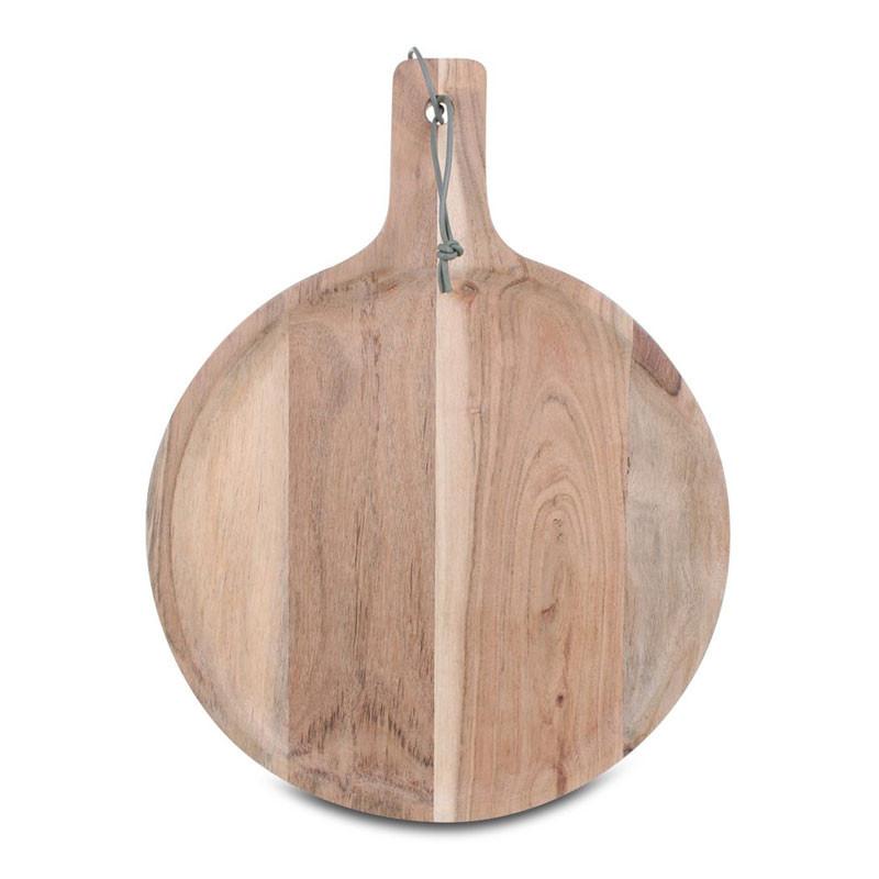 Stuff Tray Platter Round Acacia