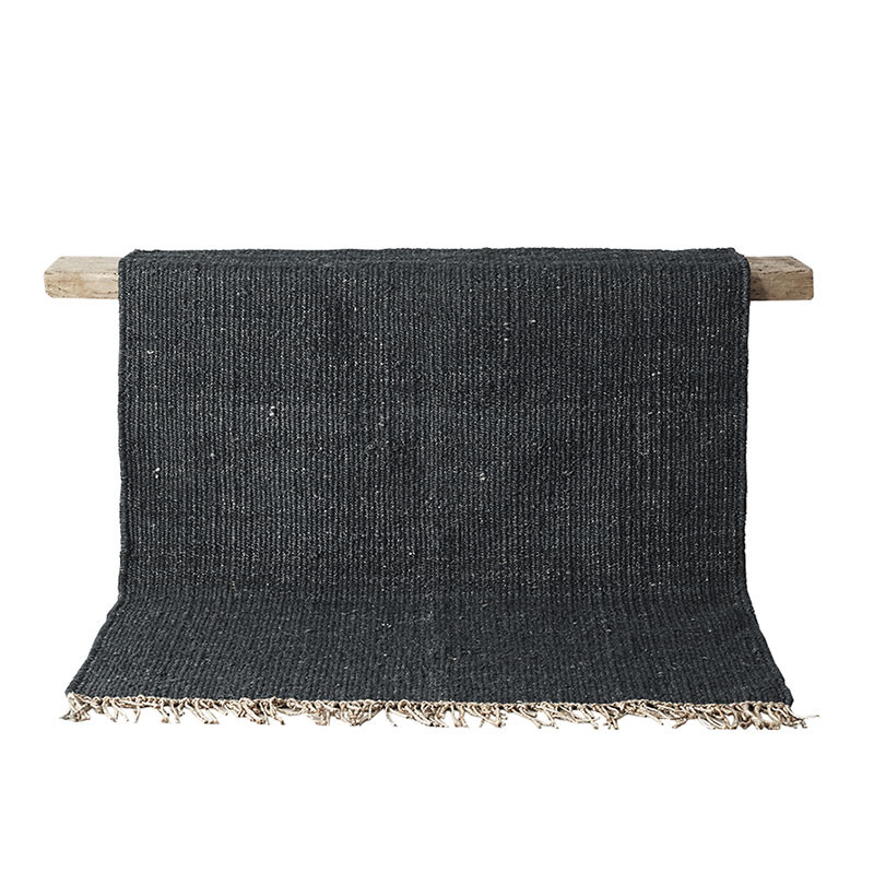 Tell Me More Hemp Rug Black