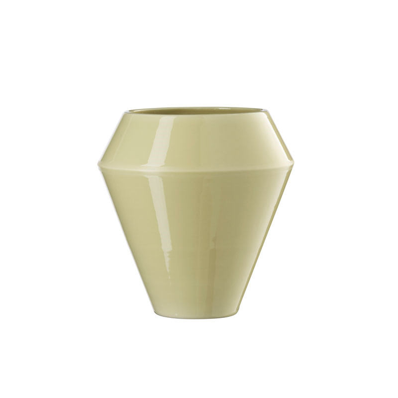 By Lassen Rimm Vase Tall Dusty Yellow