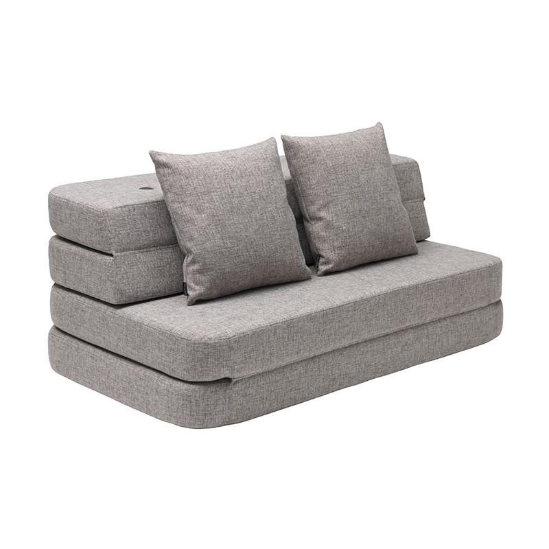 By KlipKlap 3 Fold Sofa XL Soft Multi Grey W. Grey