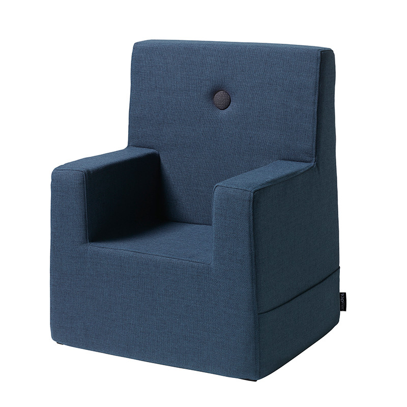 By KlipKlap Kids Chair XL Dark Blue W. Black