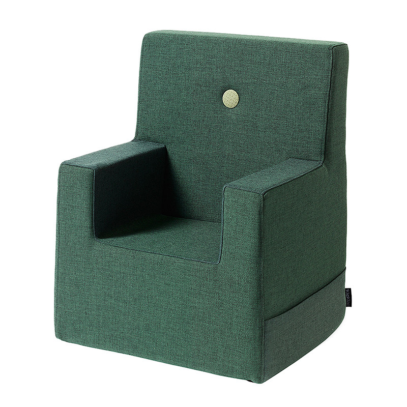 By KlipKlap Kids Chair XL Deep Green W. Light Green