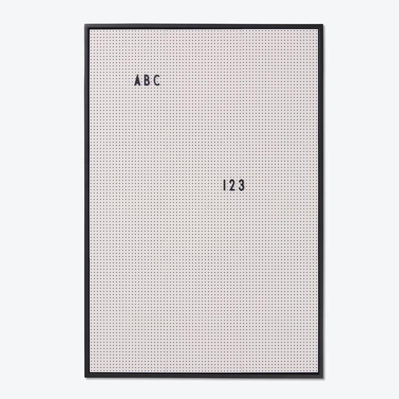 Design Letters Message Board A2 Grå