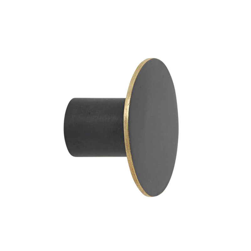 Ferm Living Hook Black Brass Small