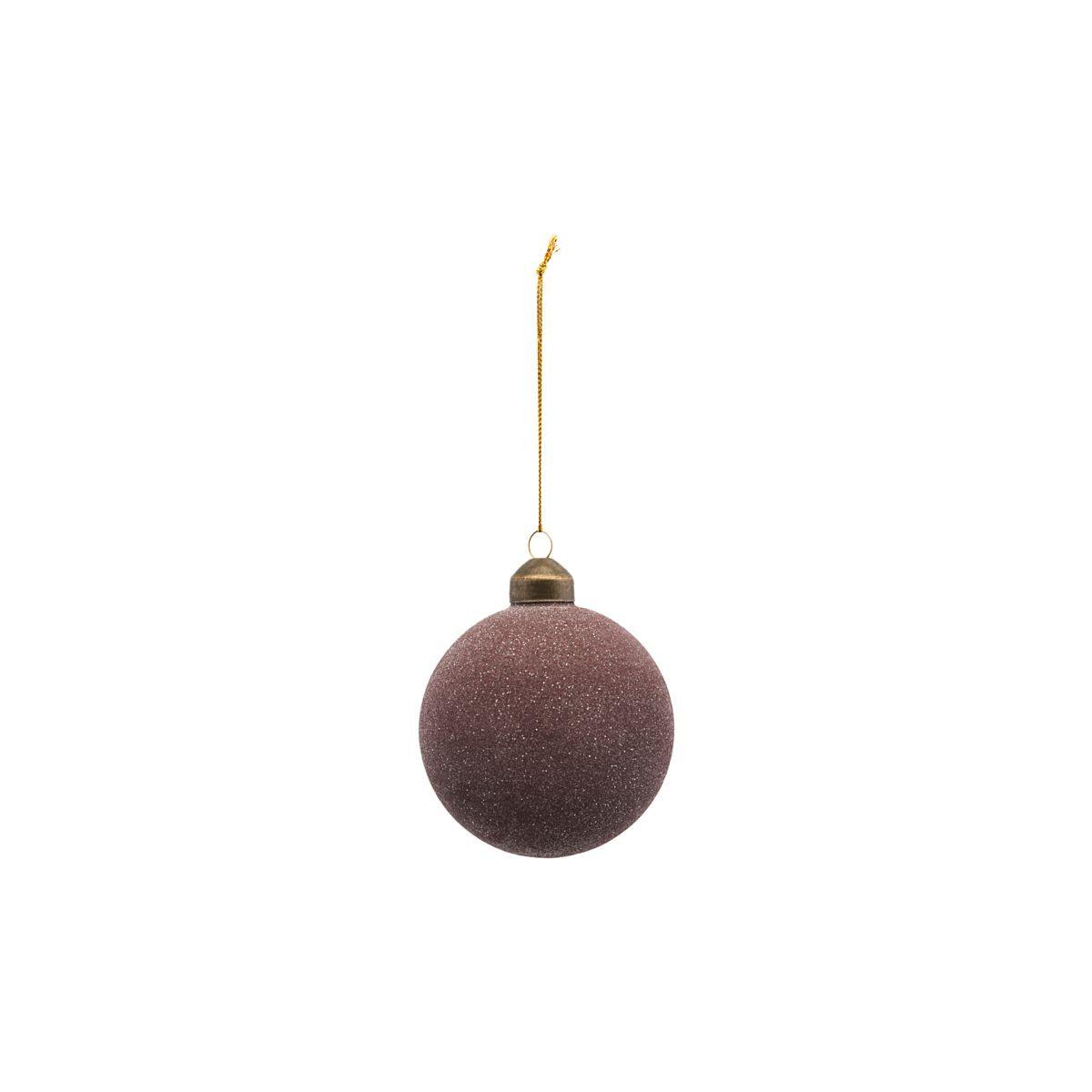 House Doctor Glittery Ornament Plum Ø 8 cm