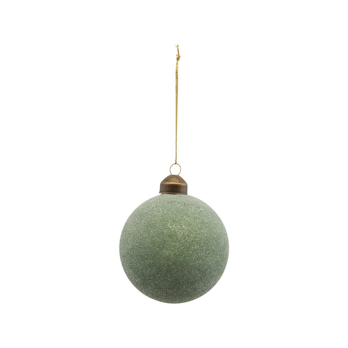 House Doctor Glittery Ornament Green Ø 10 cm