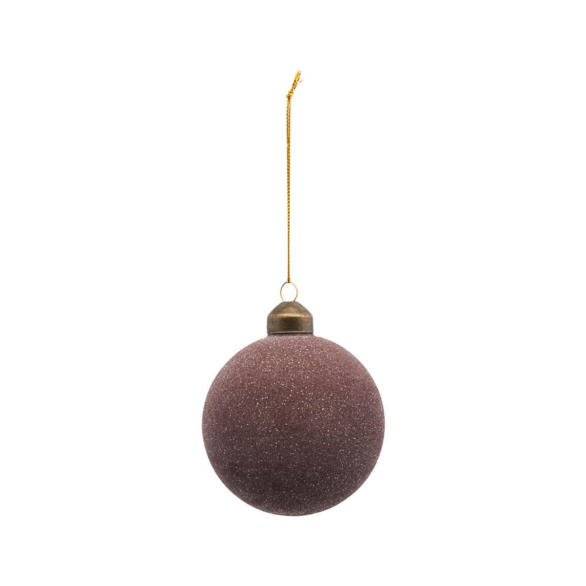 House Doctor Glittery Ornament Plum Ø 10 cm