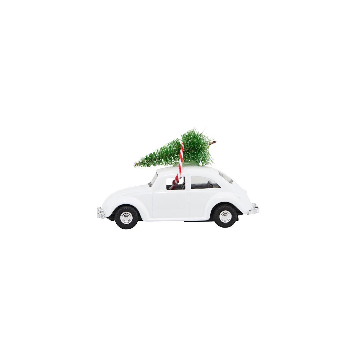 House Doctor Mini Xmas Car White