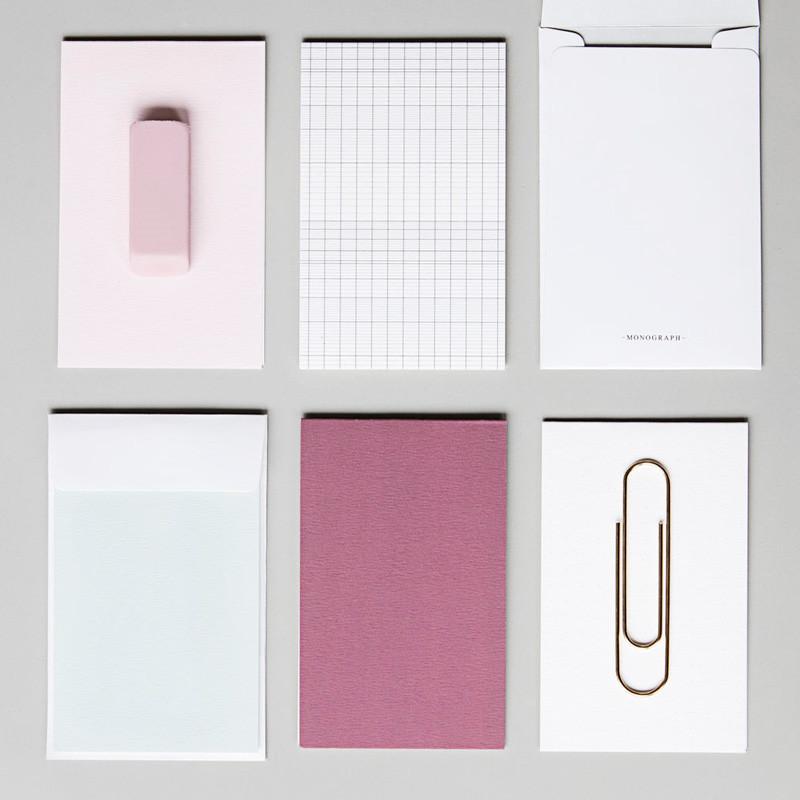 Monograph Solid Noteskort