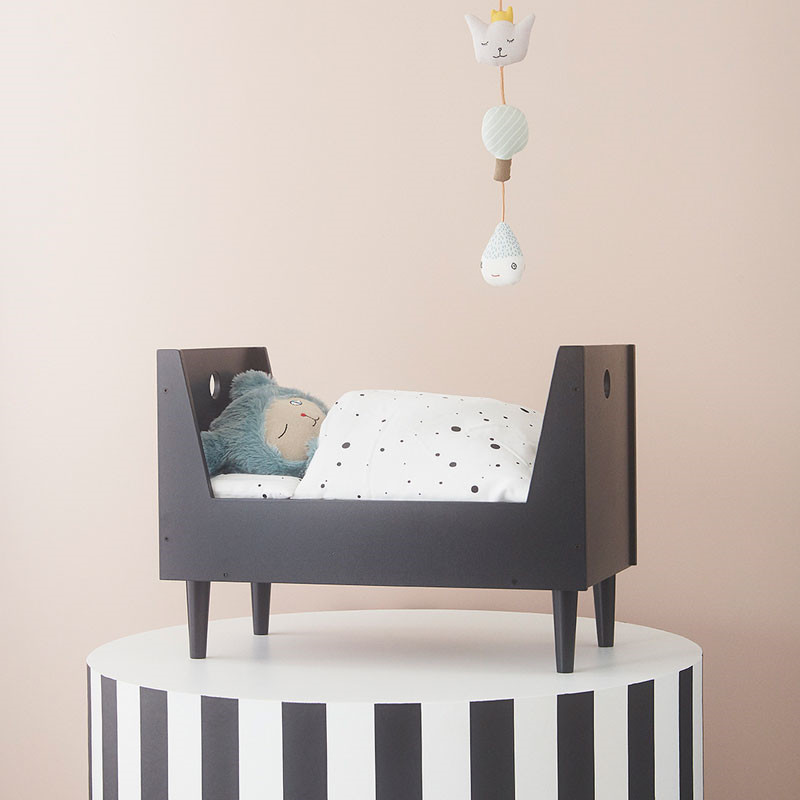 OYOY Retro Doll Bed Dark Grey