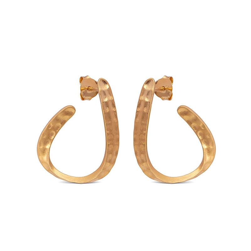 Enamel Copenhagen Awa Earrings Gold-Plated