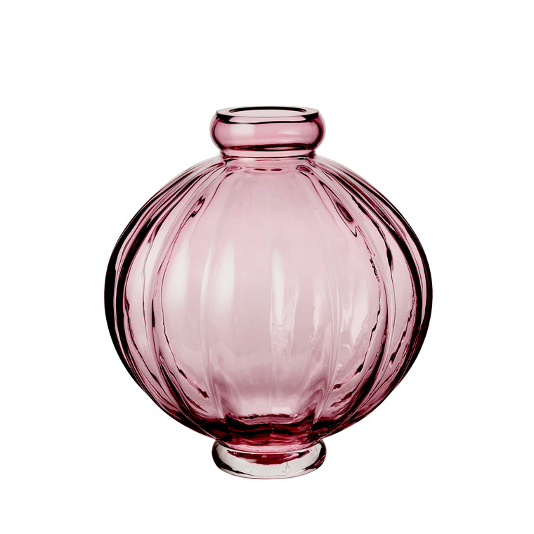 Louise Roe Balloon Vase 01 Burgundy