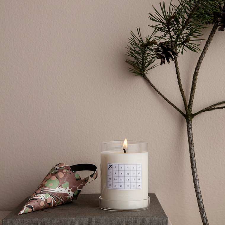 Ferm Living Scented Candle Christmas Calendar White