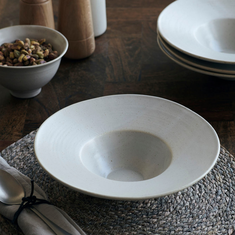 House Doctor Pion Pasta Plate Grey/White