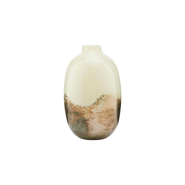 House Doctor Vase Earth Beige/Metallic High
