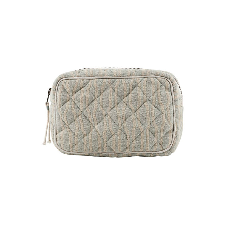 Meraki Makeup Bag Pale Green/Beige