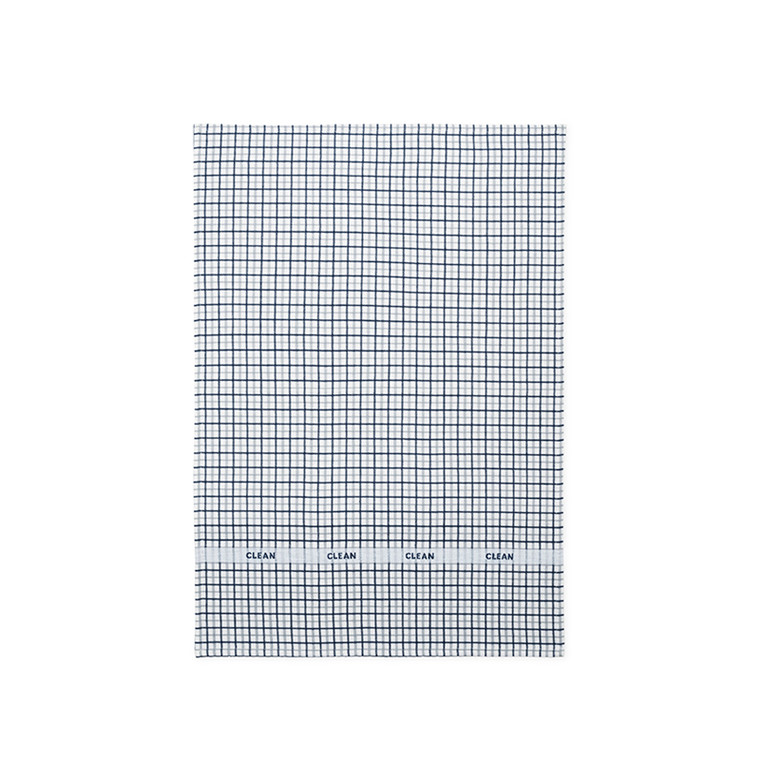 Normann Cph Ren Tea Towel Double Grid Dark Blue/Cool Grey