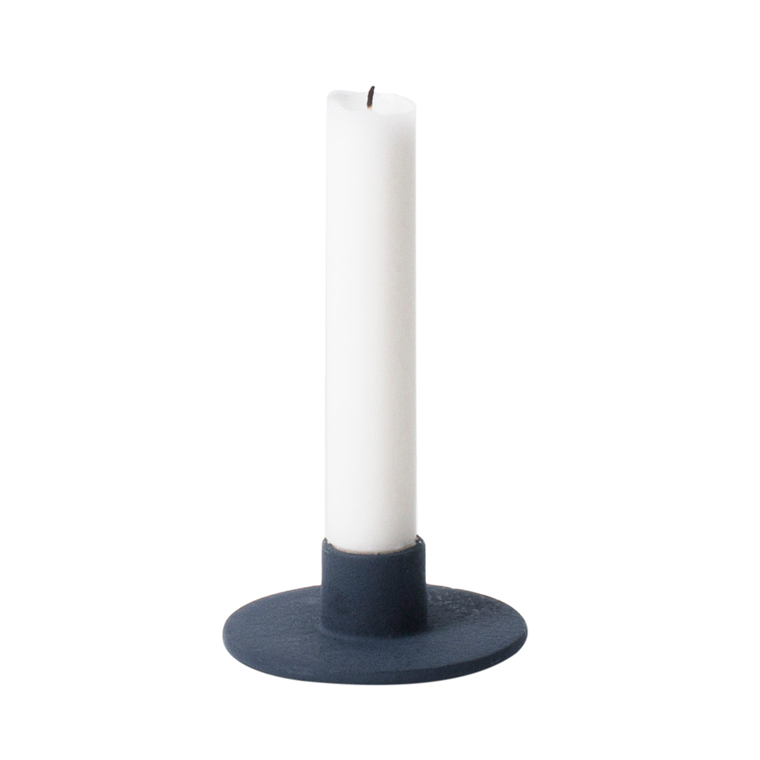 Ferm Living Cast Iron Candle Holder Dark Blue