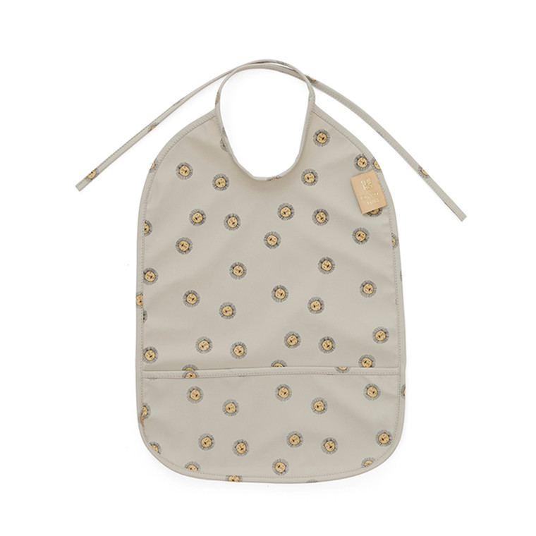 OYOY Lion Bib Grey