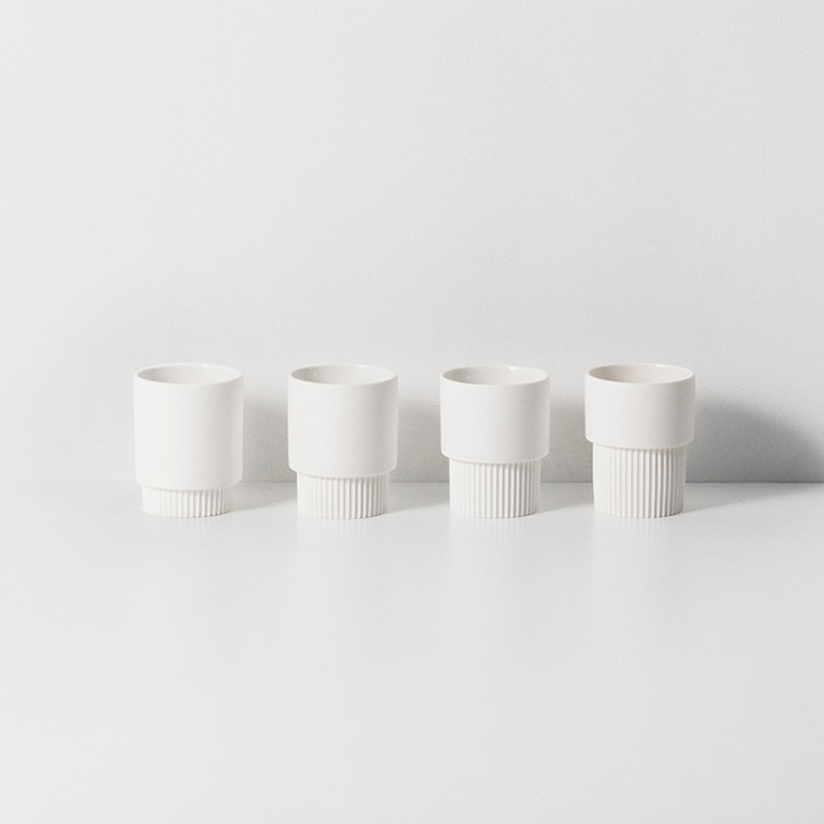 Ferm Living Groove Cups White