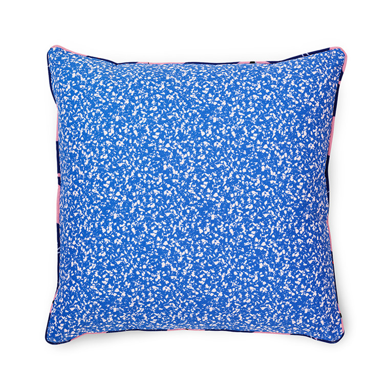 Normann Cph Posh Cushion Busy Structure True Blue