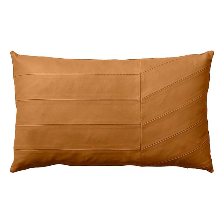 AYTM Coria Leather Cushion Amber