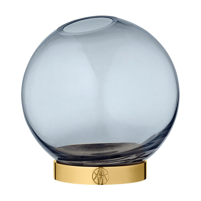 AYTM Globe Vase Navy/Gold Lille