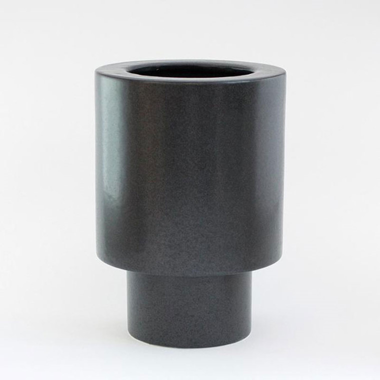 Ania ANNA Vase Dark Grey Dots