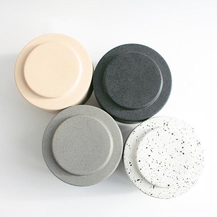 Ania KAREN Jar With Lid Dark Grey Dots