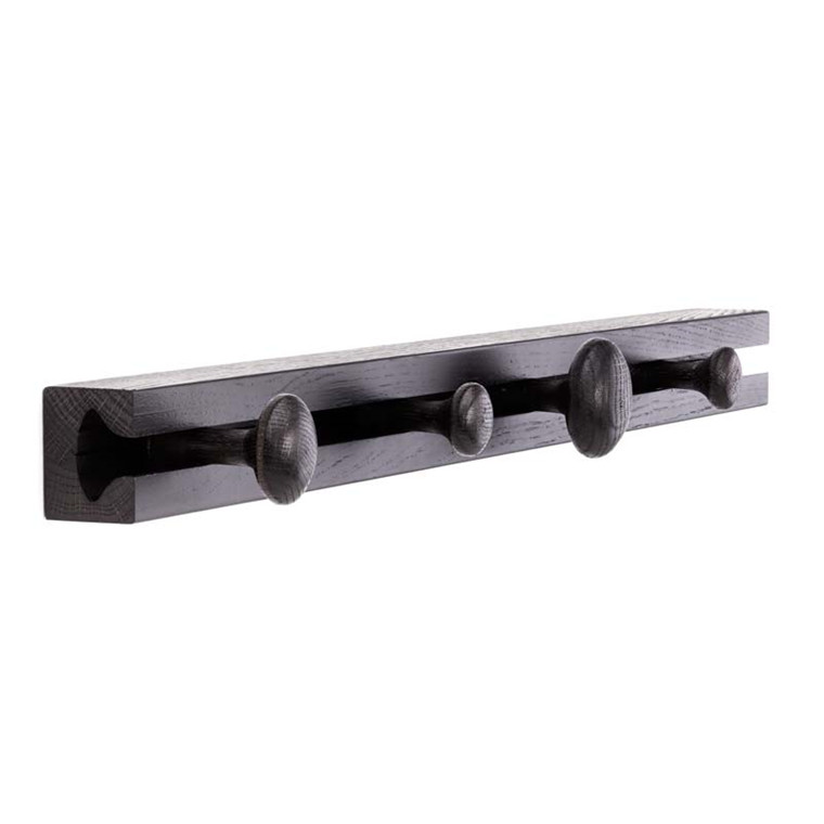 Applicata Track Coat Rack Black Oak