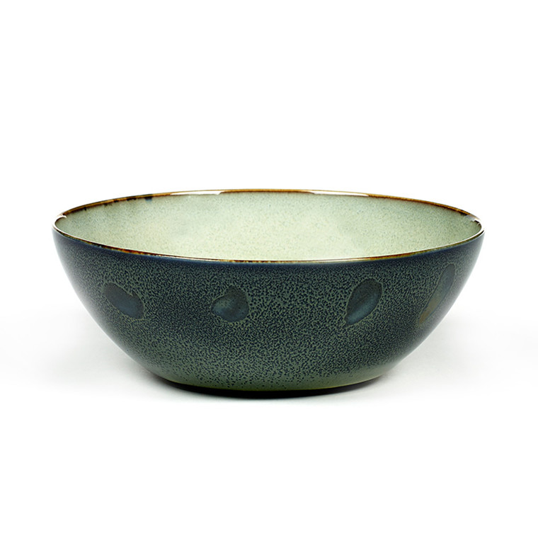 Serax Bowl Large Misty Grey/ Dark Blue