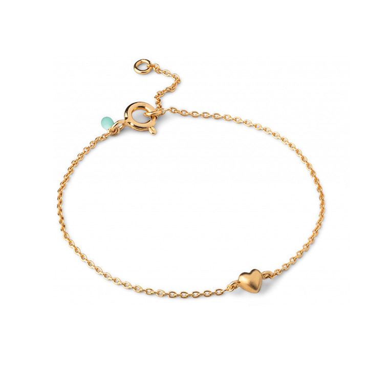 Enamel Copenhagen Little Love Bracelet Gold-Plated