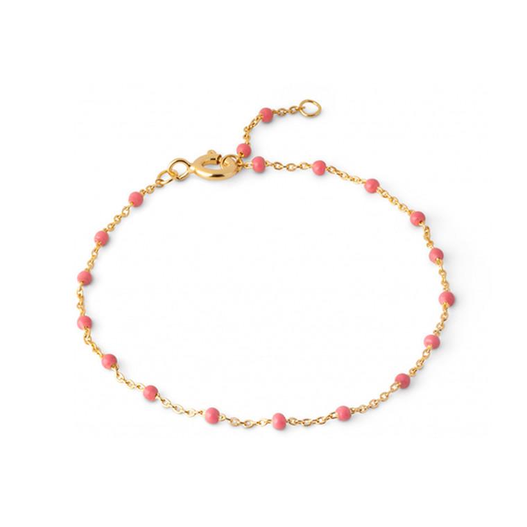 Enamel Copenhagen Lola Bracelet Coral Gold-Plated