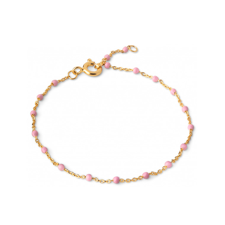 Enamel Copenhagen Lola Bracelet Light Pink Gold-Plated