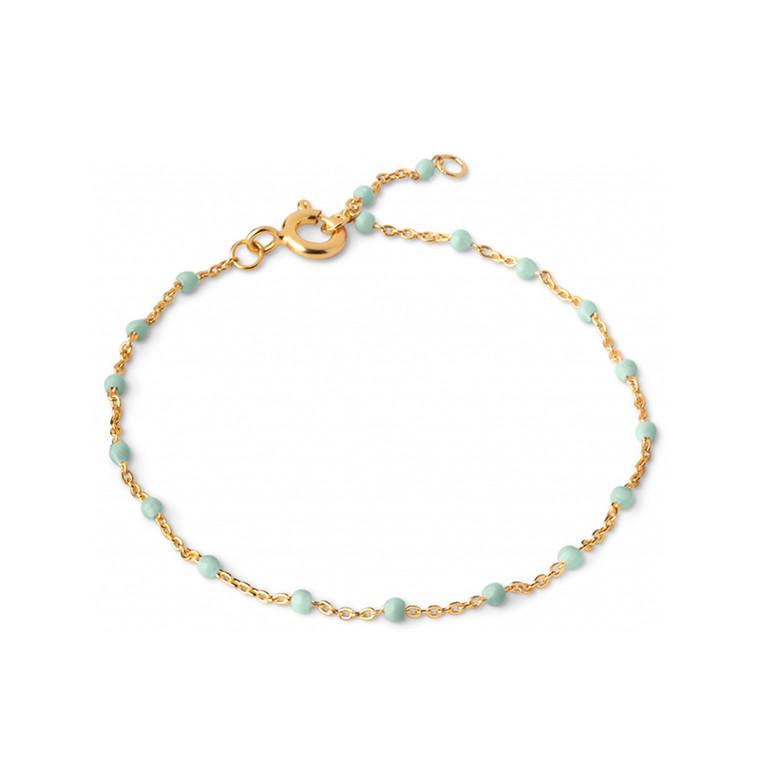 Enamel Copenhagen Lola Bracelet Mint Gold-Plated