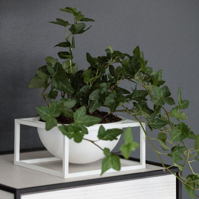 By Lassen Kubus Bowl Centerpiece Small Hvid