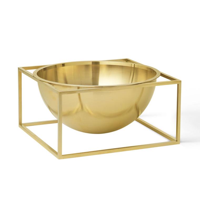 By Lassen Kubus Bowl Centerpiece Large Messing