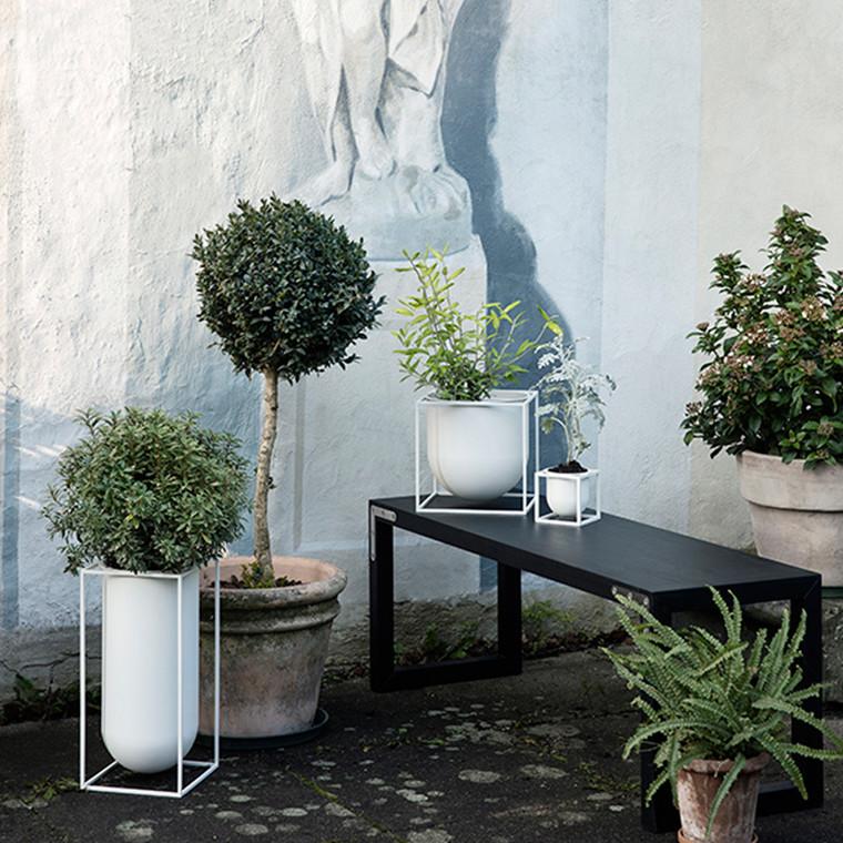 By Lassen Kubus Flowerpot 23 White