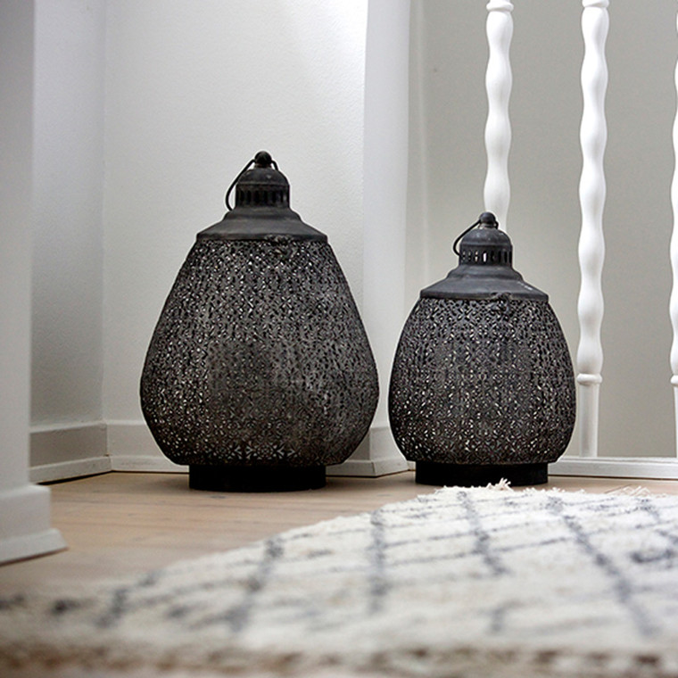 Cozy Room Drop Lantern Black