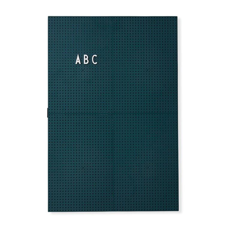 Design Letters Message Board A3 Mørkegrøn