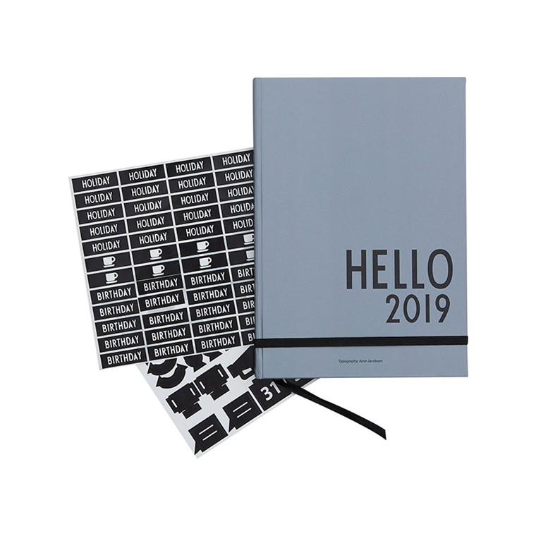 Design Letters Calender 2019 Grey