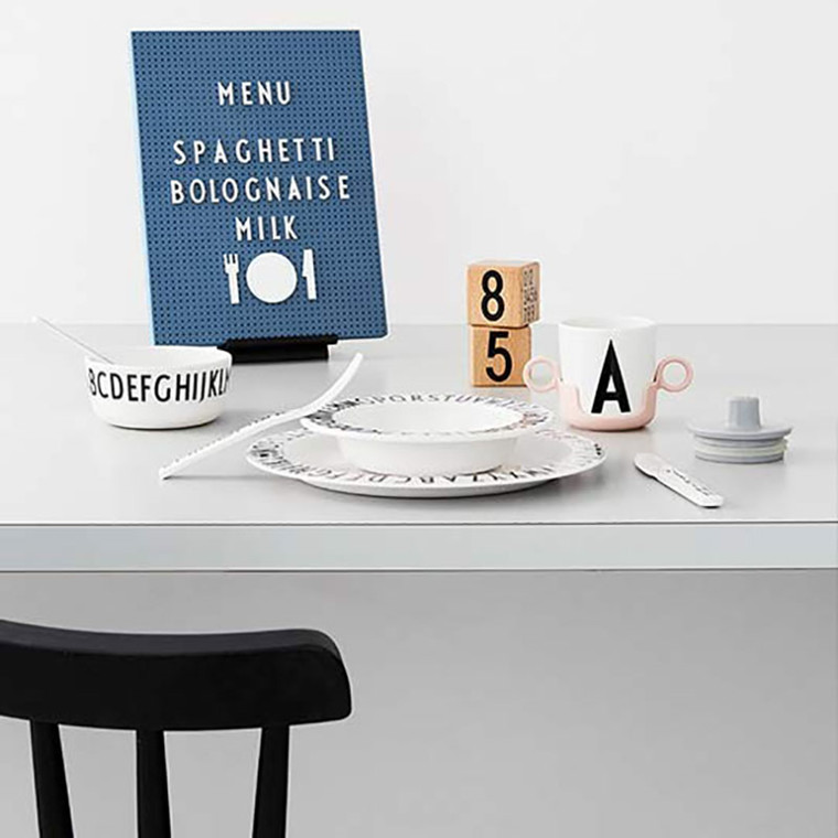 Design Letters Food Icons For Message Board White