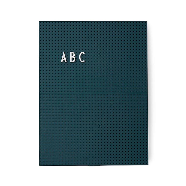 Design Letters Message Board A4 Mørkegrøn