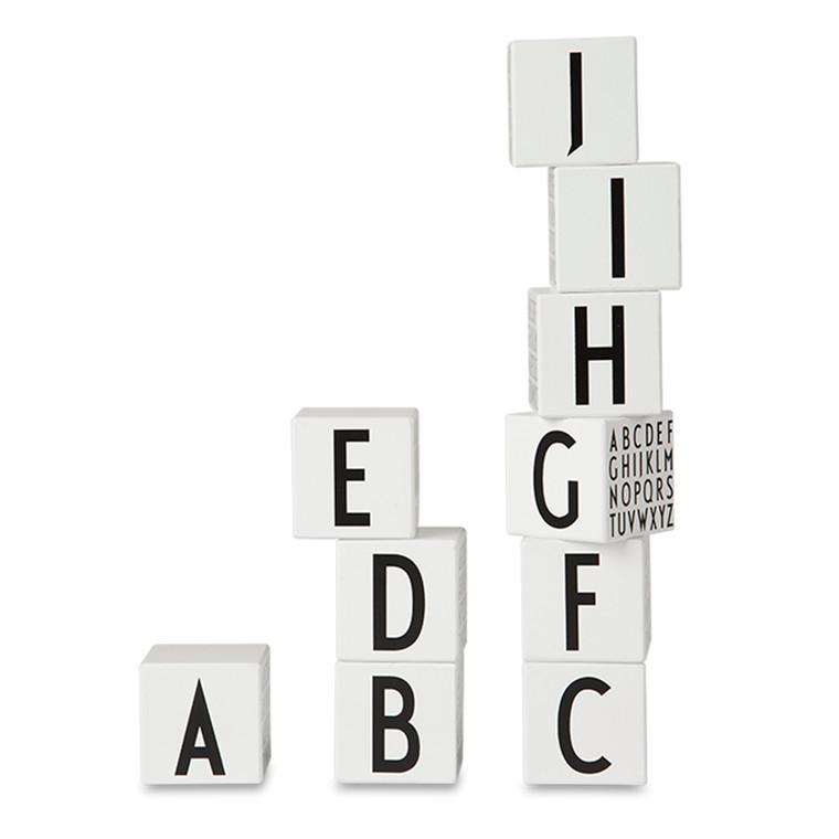 Design Letters AJ Wooden Cubes ABC