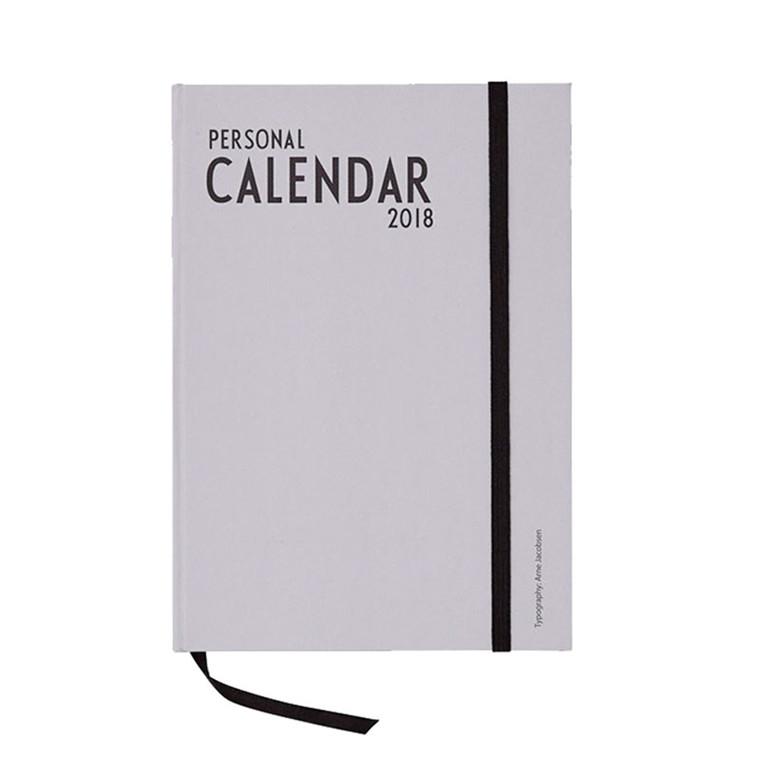 Design Letters Calendar 2018 Grey