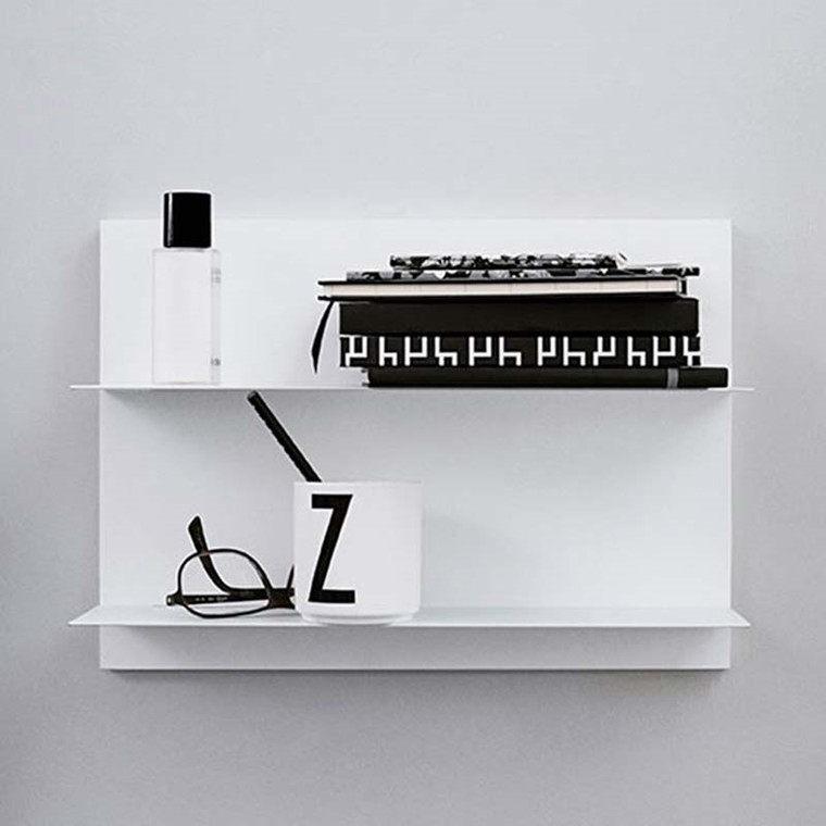 Design Letters Paper Shelf White